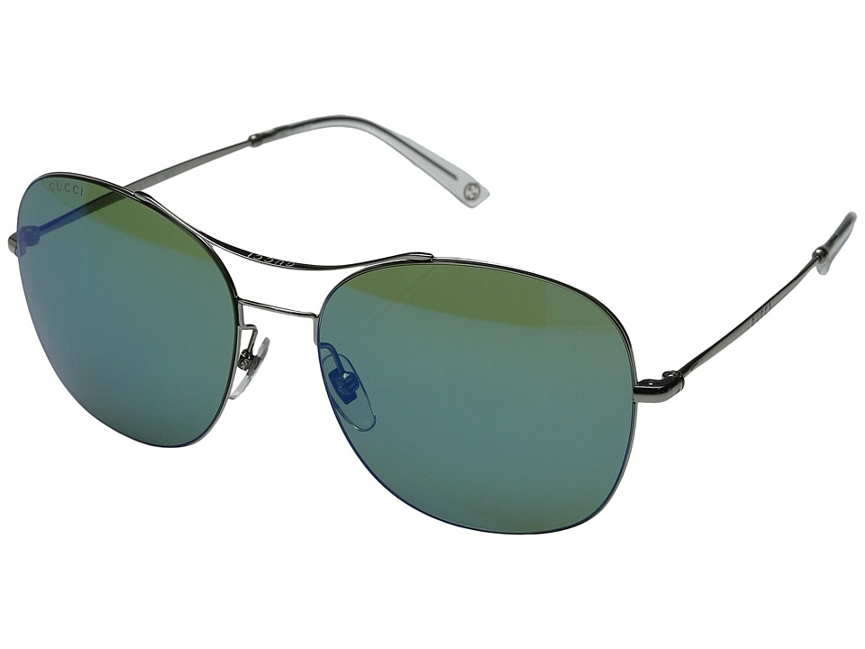 Gucci GG 4253/S Ruthenium/Green Blue Mirror Fashion Sunglasses