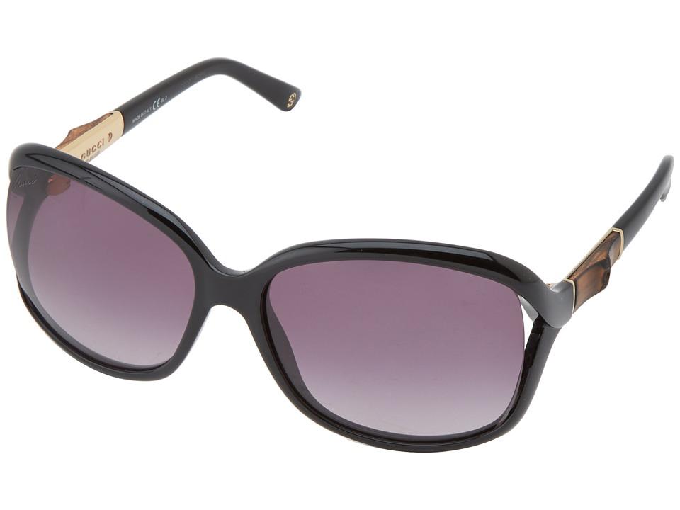 Gucci GG 3671/S Shiny Black/Grey Gradient Fashion Sunglasses