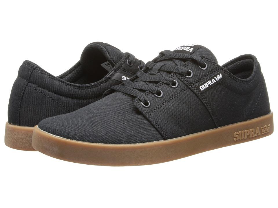 Supra - Stacks II (Black/Gum) Mens Skate Shoes