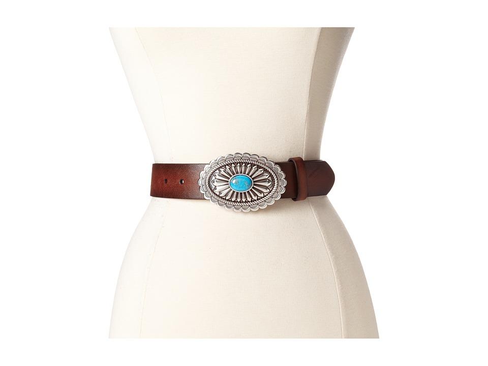 Ariat - Oval Concho Buckle Belt (Brown) Womens Belts