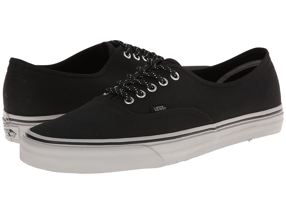Shop Vans online and buy Vans Authentic Poly Canvas Black Skate Shoes online