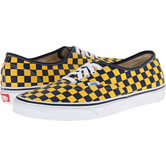 Vans Authentic™ Golden Coast Dress Blues Yellow Checker #0: p DETAILED