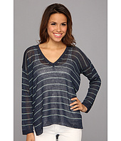 525 america - V-Neck Narrow Stripe