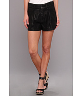 7 For All Mankind - Soft Drapey Short in Black Drapey Twill