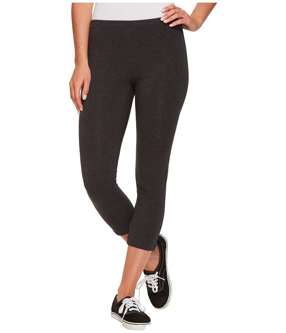 HUE Cotton Capri Legging (Graphite Heather) Women