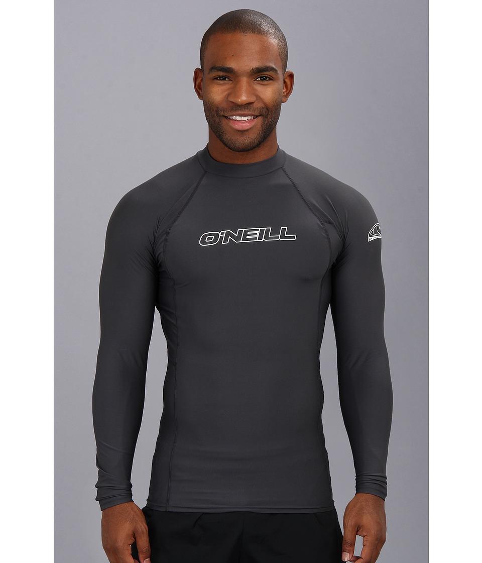 ONeill Basic Skins L/S Crew Graphite Mens Swimwear