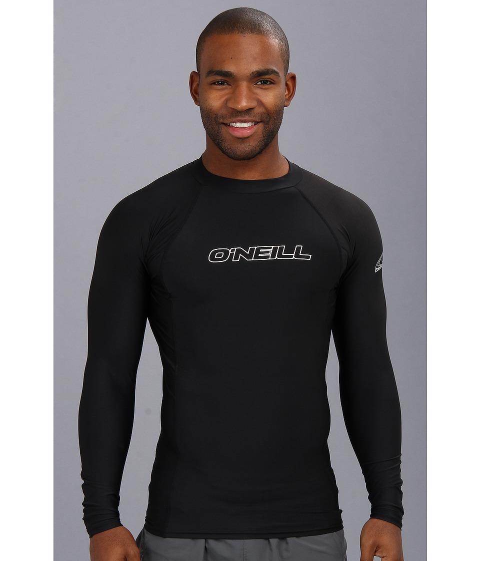 ONeill Basic Skins L/S Crew Black Mens Swimwear