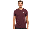 adidas - Ultimate Short-Sleeve V-Neck Tee (Dark Red Heather/Matte Silver)