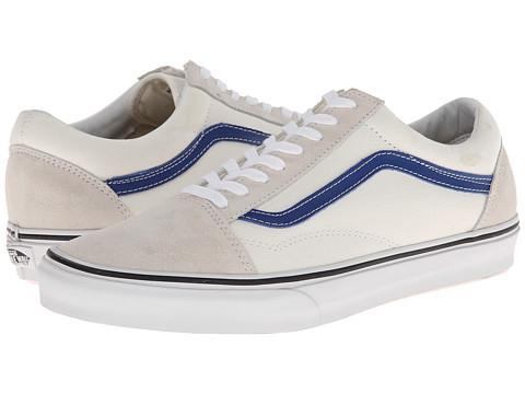 vans old skool white true blue