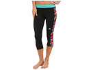 adidas - Techfit Three-Quarter Tight - Chevron (Black/Multicolor Print)