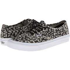 Authentic Slim ((Washed) Leopard/Black) Skate Shoes