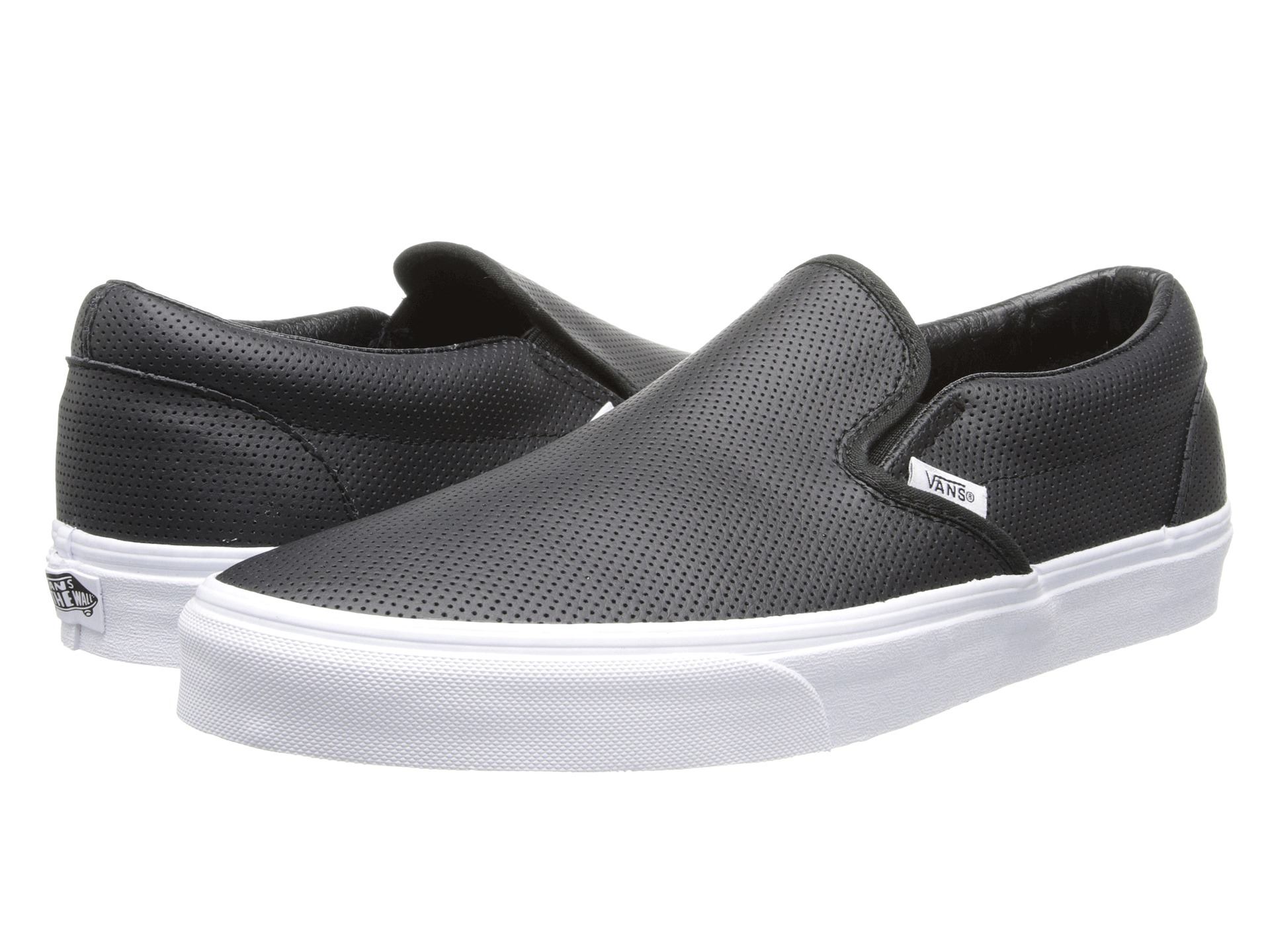 vans classic slip on perf leather black free shipping both ways. Black Bedroom Furniture Sets. Home Design Ideas