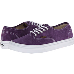 Authentic Slim ((Washed) Grape Royale/True White) Skate Shoes
