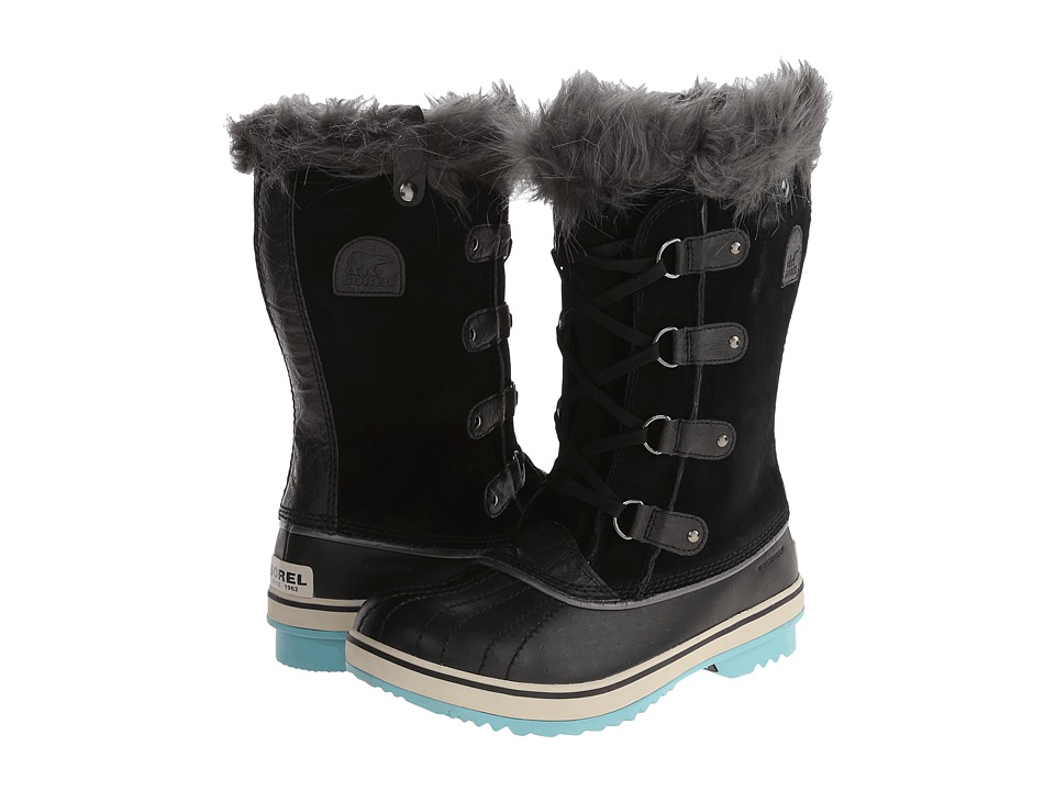 SOREL Kids Tofino (Little Kid/Big Kid) (Black/Iceberg) Girls Shoes
