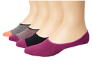 Cole Haan - Contrast Heel/Toe and Double Plaid Liner 4-Pack w/ Stay Up Gel Heel (Assorted 3)