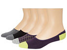 Cole Haan Contrast Heel/Toe and Double Plaid Liner 4PK w/ Stay Up Gel Heel