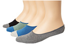 Cole Haan - Even Stripe/Contrast Heel/Toe Liner 4 Pack w/ Stay Up Gel Heel (Assorted) - Footwear