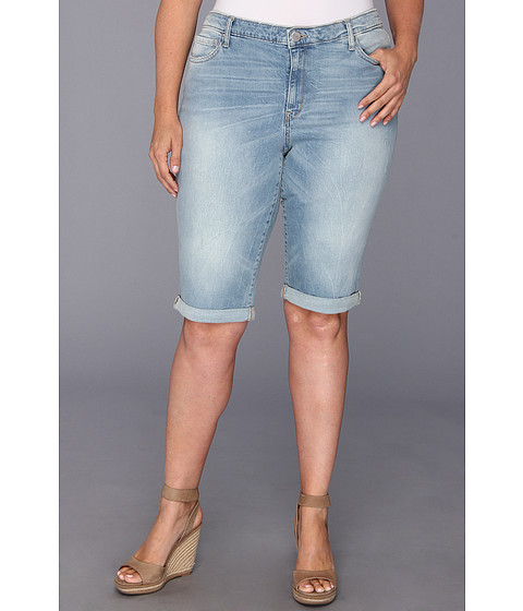 DKNY Jeans - Plus Size Dirty Dancing Short in Icy Brook Wash (Icy Brook Wash) - Apparel