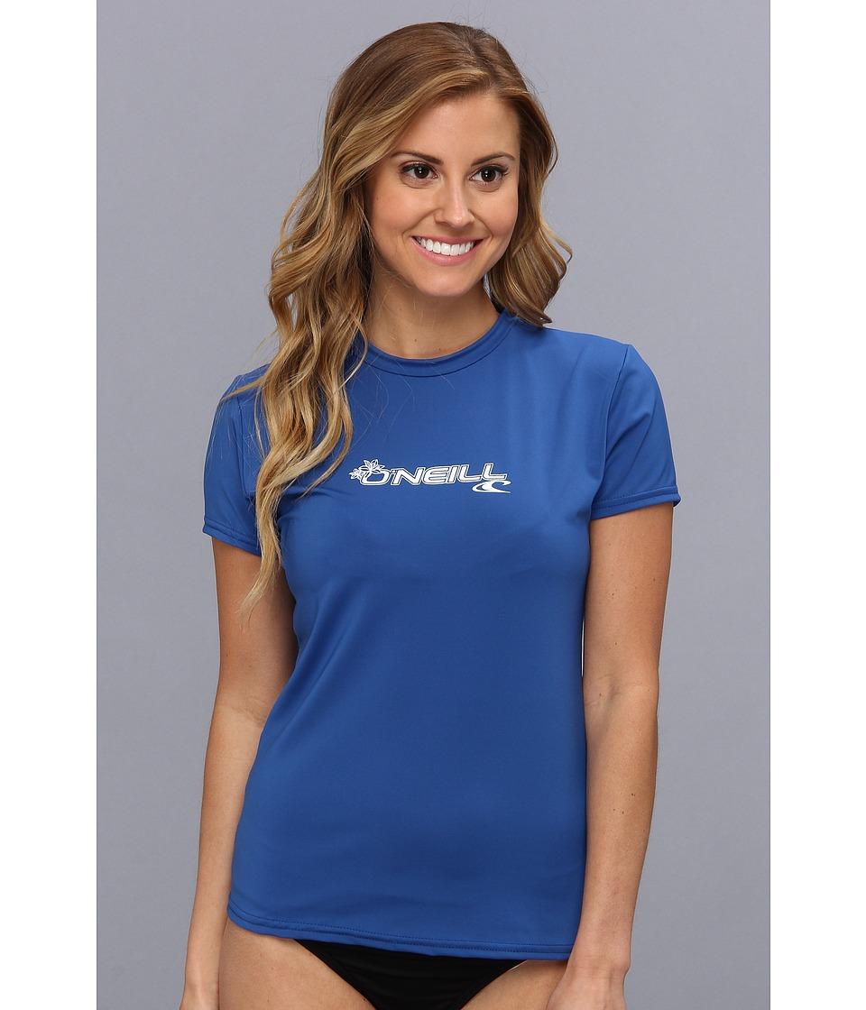 ONeill Basic Skins S/S Rash Tee Deep Sea Womens Swimwear