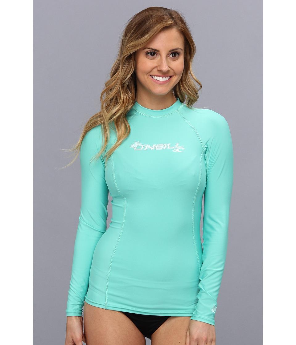 ONeill Basic Skins L/S Crew Light Aqua Womens Swimwear
