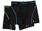 adidas - Sport Performance ClimaCool 2-Pack Boxer Brief (Black/Solar Blue/Black/Solar Green)