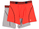 adidas - Sport Performance ClimaCool 2-Pack Boxer Brief (Light Onix/Collegiate Navy/Hi Res Red/Collegiate Navy)