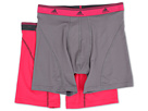 adidas - Sport Performance ClimaLite 2-Pack Boxer Brief (Thunder/Vivid Berry/Vivid Berry/Thunder)