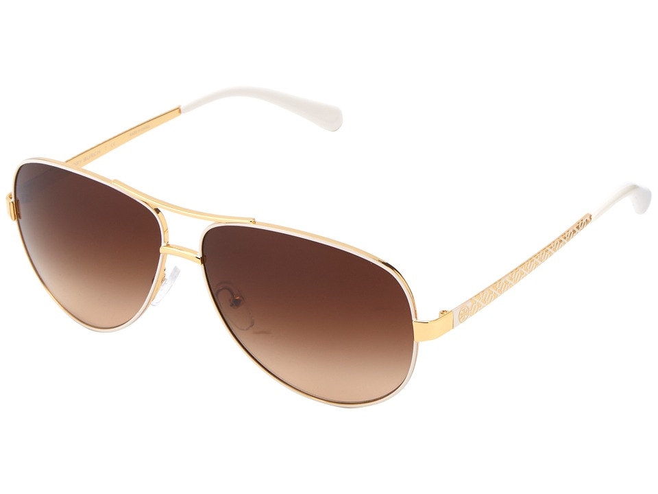 Tory Burch - TY6035 (Ivory Gold/Brown Gradient) Fashion Sunglasses