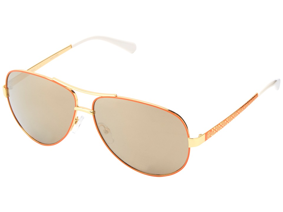 Tory Burch TY6035 Orange Gold/Gold Mirror Fashion Sunglasses
