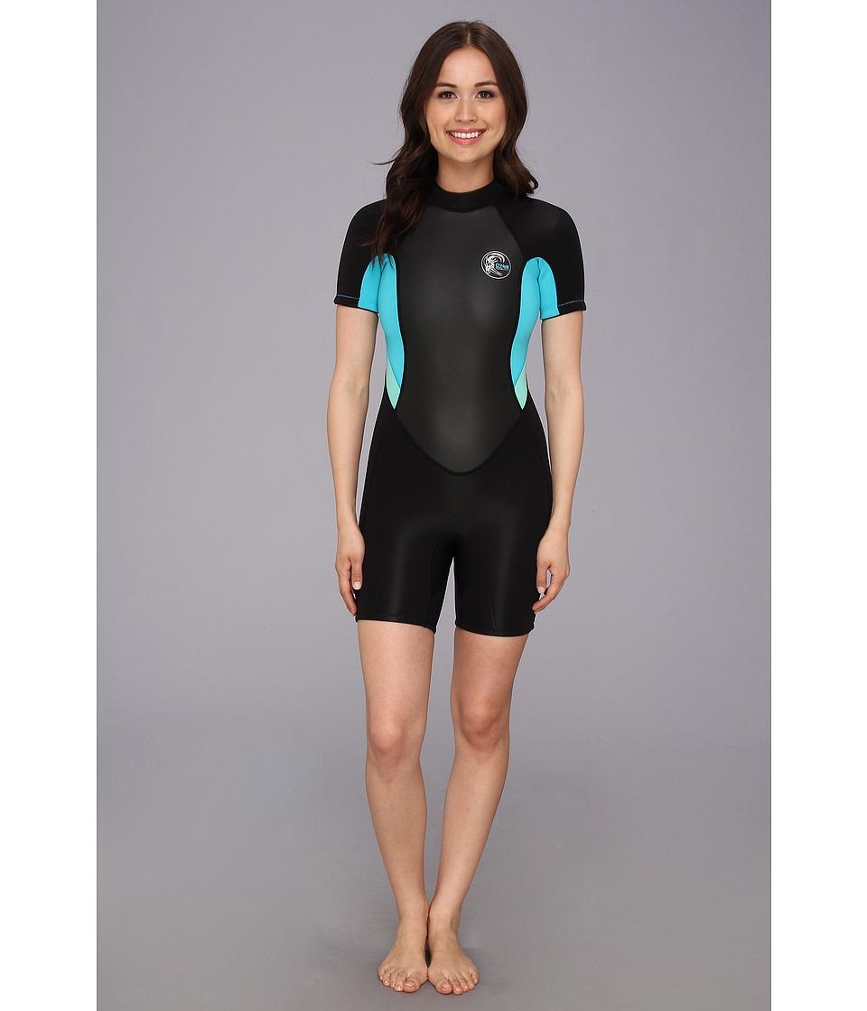 ONeill Bahia S/S Spring Black/Ltaqua/Spyglass Womens Swimwear