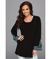 Scully - Jacalyn Scoop Neck Tunic Bell Sleeve w/ Embroidery