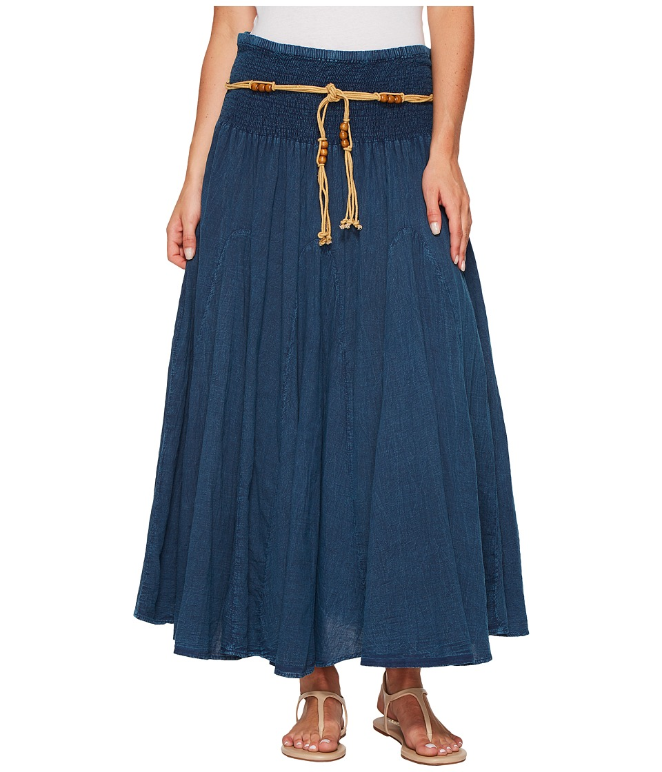 Scully - Cantina Gar-Ye Skirt w/ Belt (Dark Blue) Womens Skirt