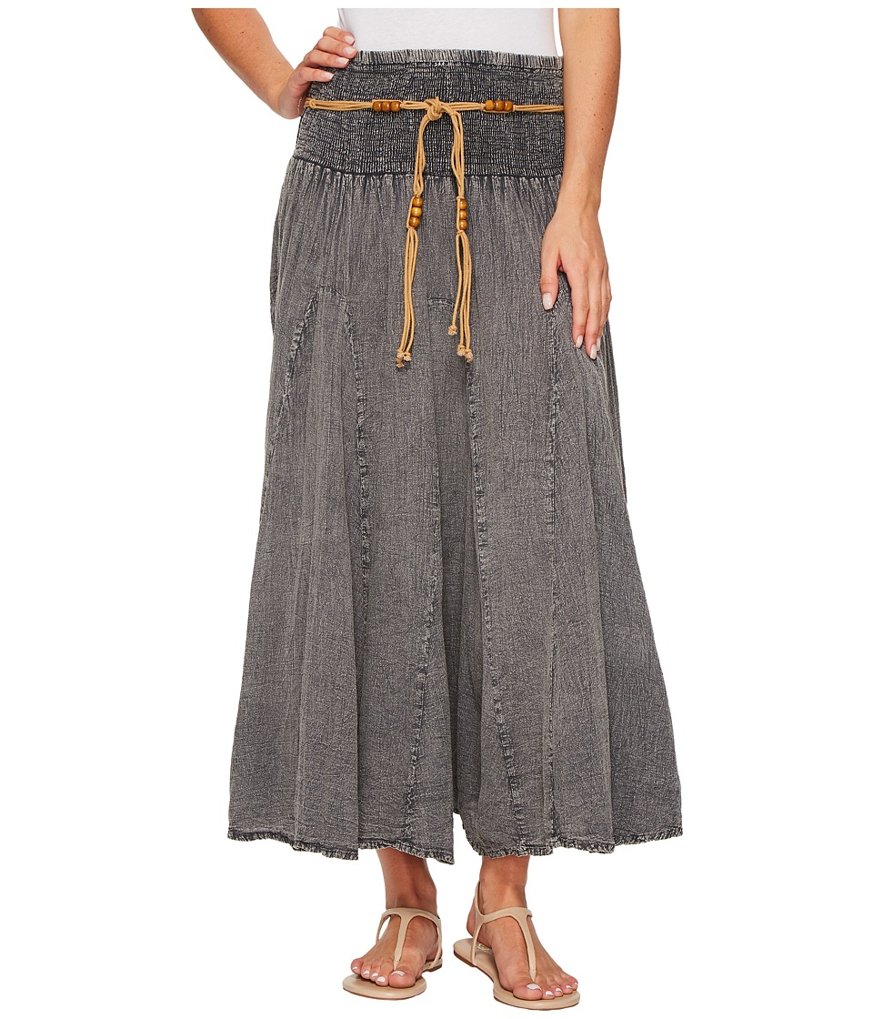 Scully Cantina Gar-Ye Skirt w/ Belt (Charcoal) Women