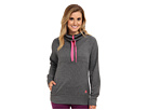adidas - Ultimate Half-Zip Fleece (Dark Grey Heather/Solar Pink)