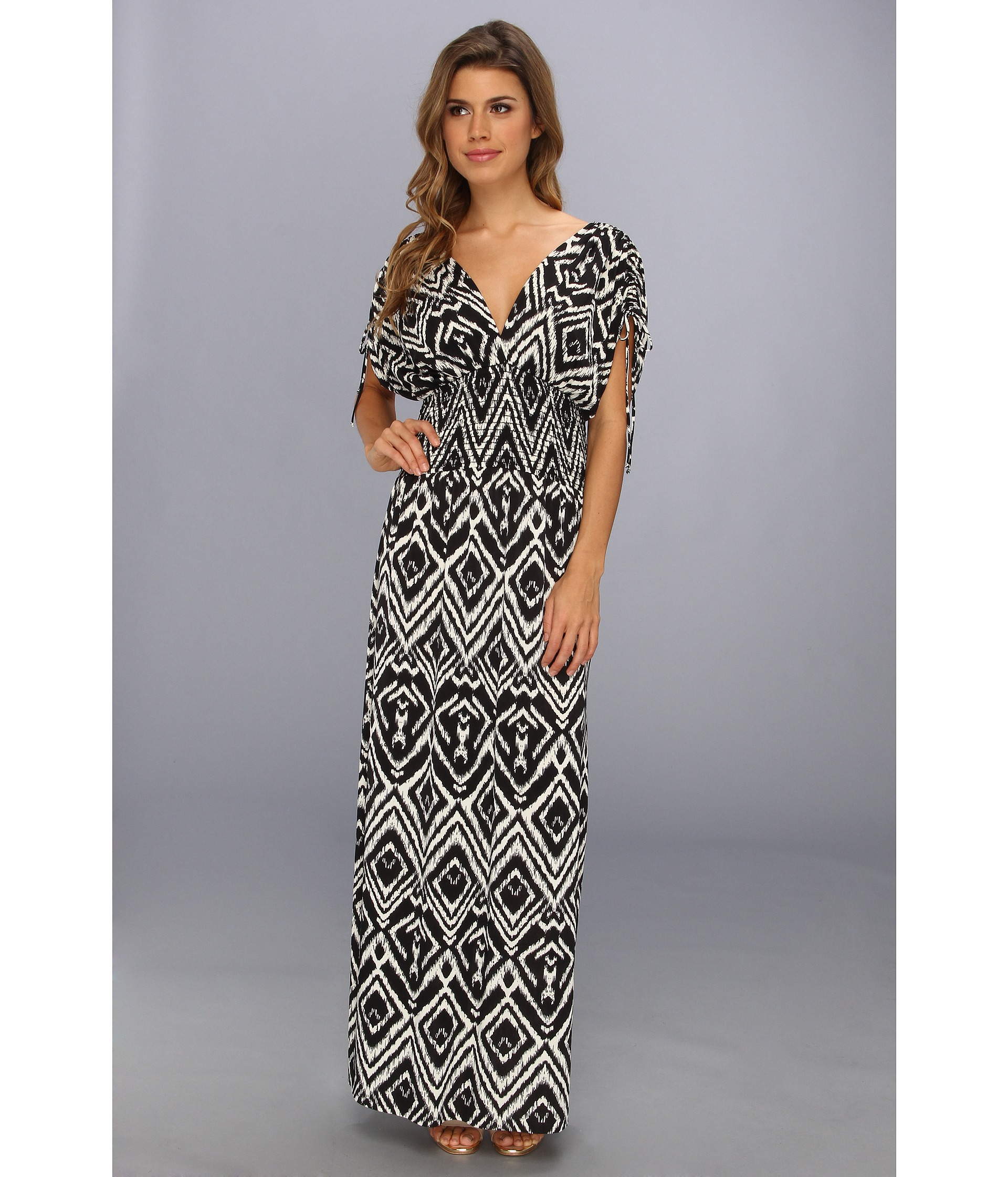 Tbags Los Angeles Empire Smocked Waist Maxi Dress - 6pm.com