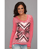 Rock and Roll Cowgirl - L/S Sequin Tribal Tee