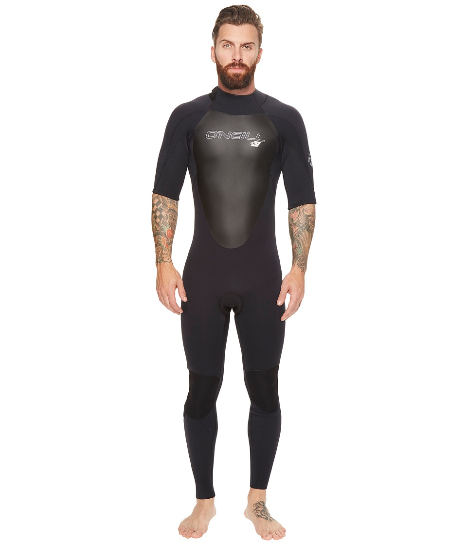 ONeill - Epic 2mm Short Sleeve Full Wetsuit (Black/Black/Black) Mens Wetsuits One Piece