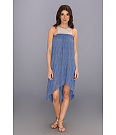Tbags Los Angeles - Knit Sleeveless Hi-Low Dress w/ Mesh Contrast