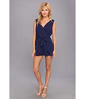 Tbags Los Angeles - Woven Sleeveless Belted Romper