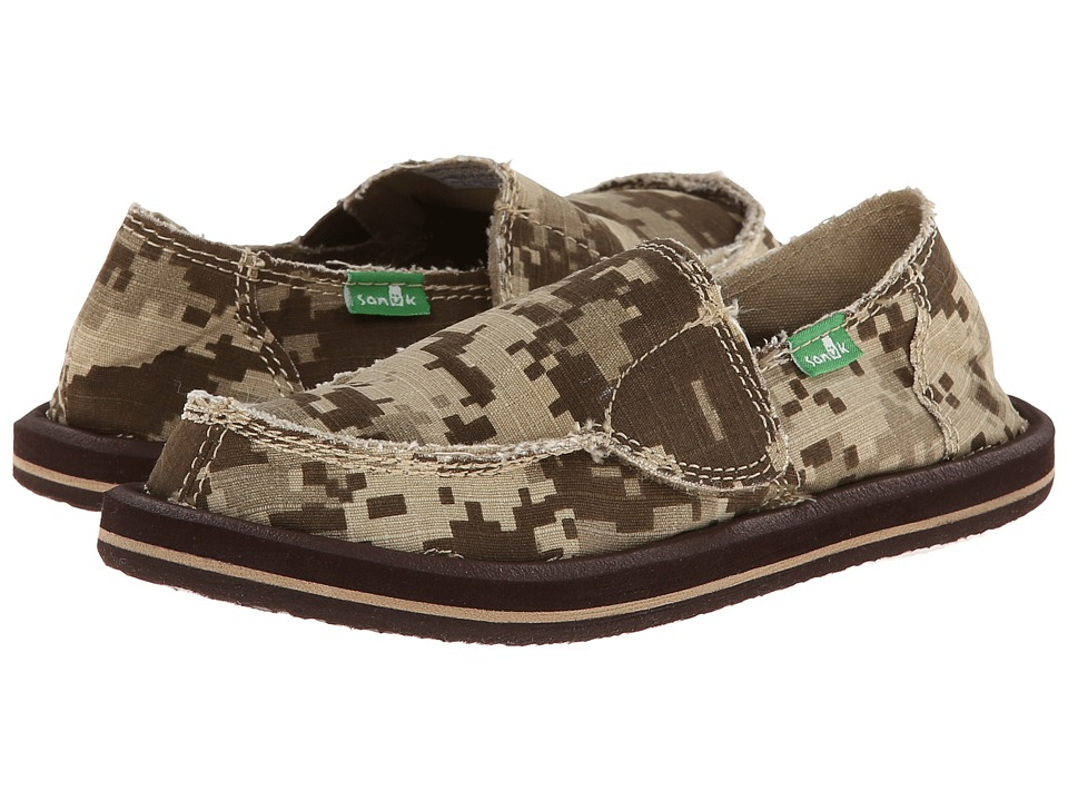 Sanuk Kids Vagabond Toddler/Little Kid Brown Digi Camo Boys Shoes