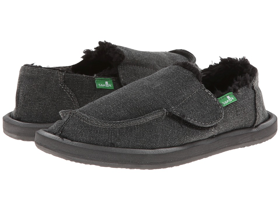 Sanuk Kids - Vagabond Chill (Toddler/Little Kid) (Charcoal) Boys Shoes