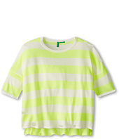 United Colors of Benetton Kids - Girls' Cropped Stripe Sweater (Toddler/Little Kids/Big Kids)