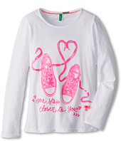 United Colors of Benetton Kids - Girls' Long Sleeve Graphic Tee (Toddler/Little Kids/Big Kids)