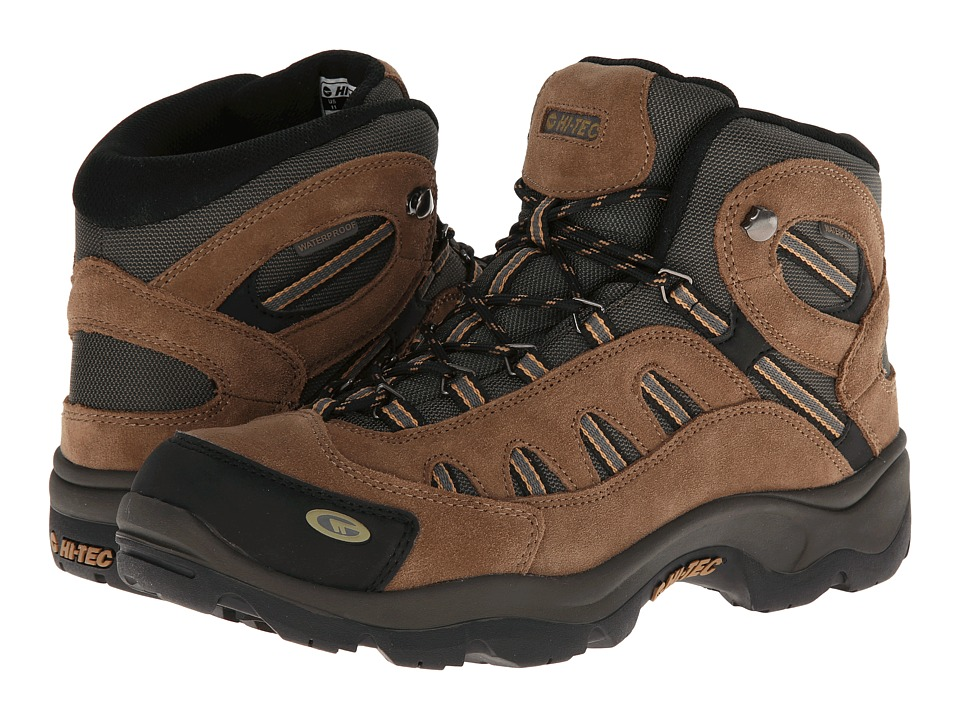 Hi-Tec - Bandera Mid WP (Bone/Brown/Mustard) Mens Hiking Boots