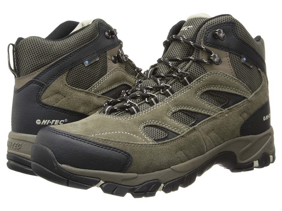 Hi-Tec - Logan WP (Smokey Brown/Olive/Snow) Mens Hiking Boots
