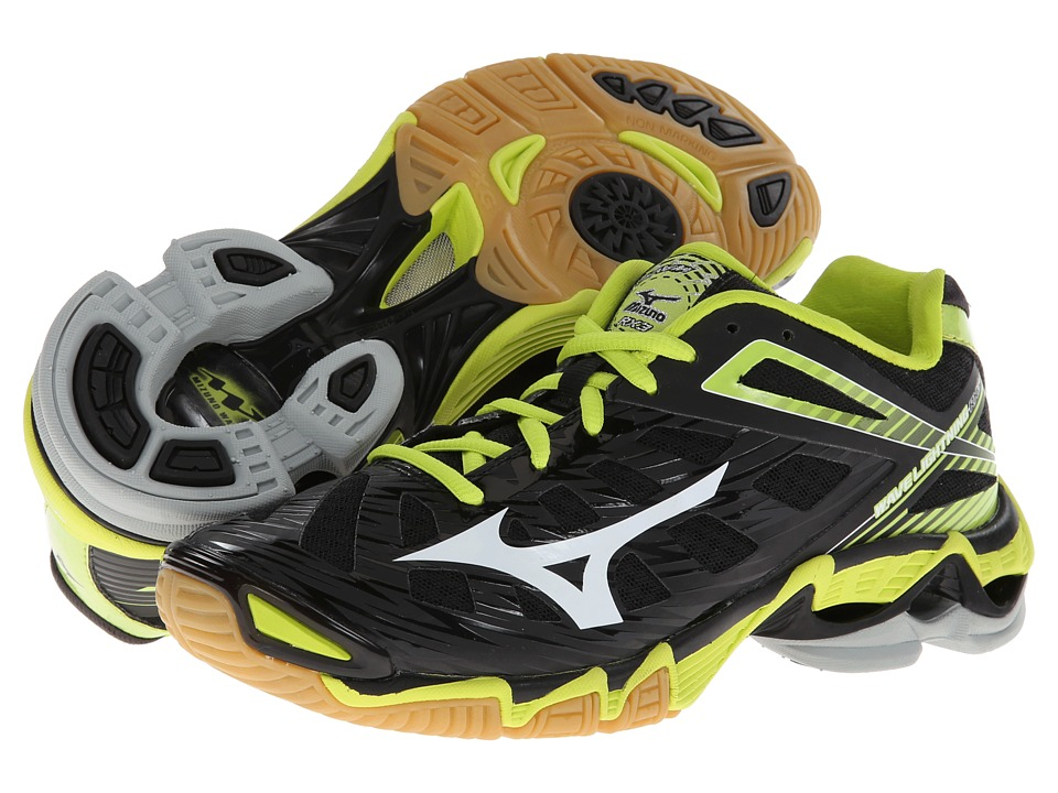Image of Mizuno Wave Lightning RX3 (Black/Lime) Women's Volleyball Shoes