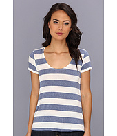 Splendid - Striped Drapey Lux Boyfriend Tee