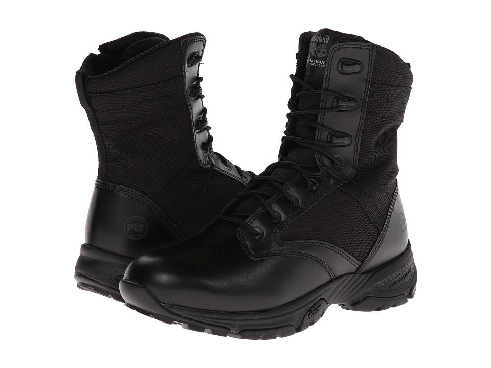 Timberland PRO 8 Valor Side Zip Black Mens Zip Boots