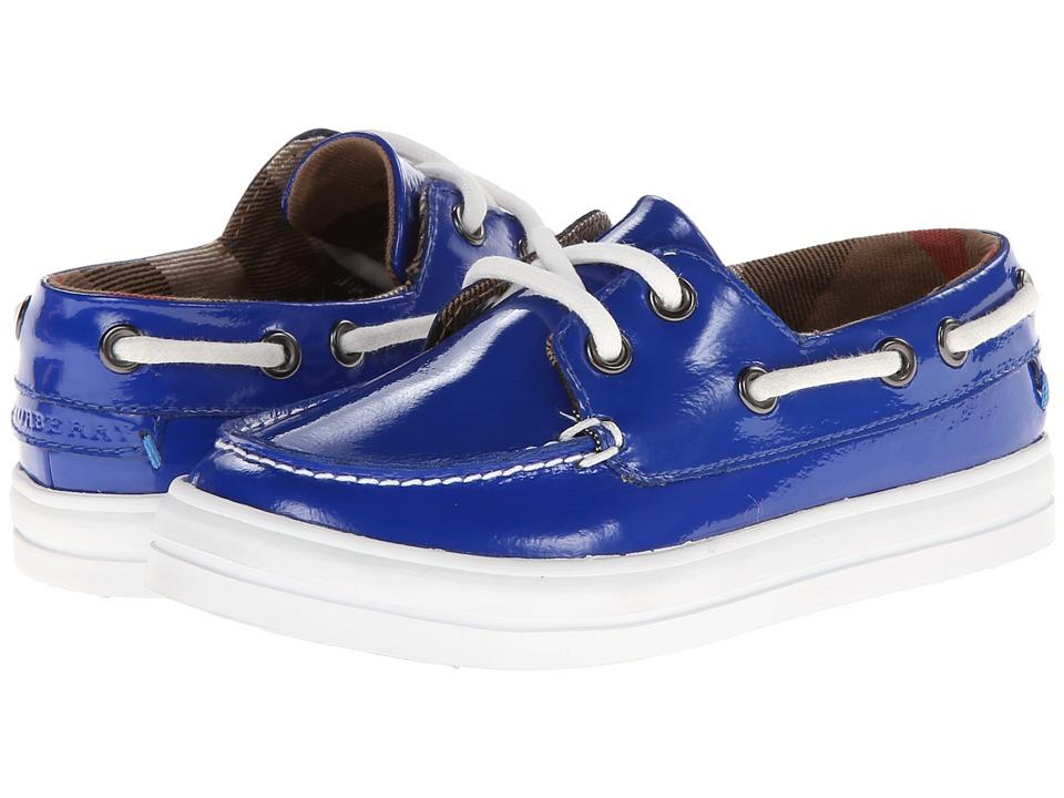 Burberry Kids K1 Reece P Toddler/Little Kid Vibrant Blue Boys Shoes