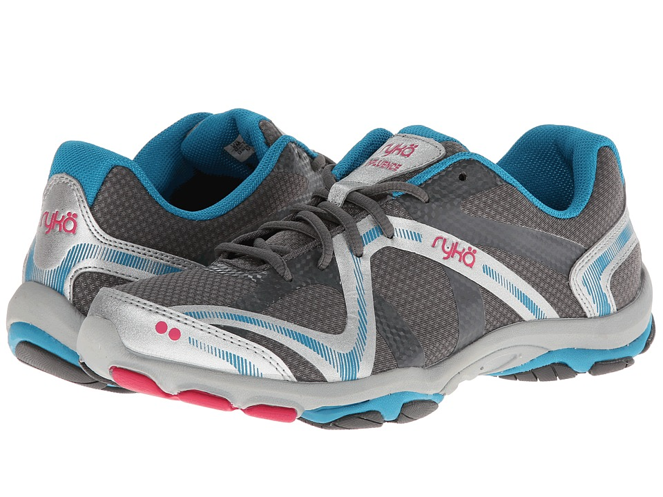 Ryka Influence (Steel Grey/Chrome Silver/Diver Blue/Zuma Pink) Women's Shoes